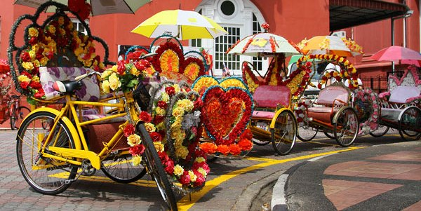 Decorated Pedal Rickshaws