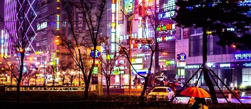 Night Rain South Korea